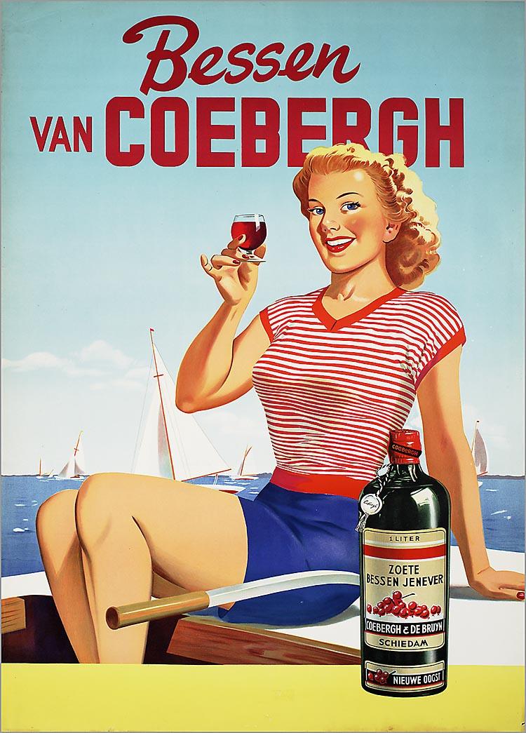 Coeberghs' Verenigde Distilleerderijen N.V. in Schiedam.